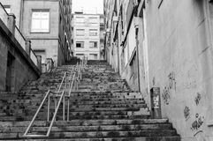 Γραπτή σκάλα στοκ φωτογραφία με δικαίωμα ελεύθερης χρήσης
