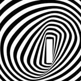Γραπτή σπειροειδής οπτική παραίσθηση Στοκ Εικόνα