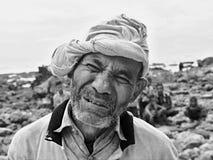 Γραπτή φωτογραφία του ηληκιωμένου, Sumba, Ινδονησία στοκ εικόνες