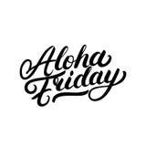 Γραπτή χέρι εγγραφή Παρασκευής Aloha Στοκ Φωτογραφίες