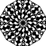 Γραπτή floral απεικόνιση Mandala τέχνης γραμμών φύλλων διανυσματική απεικόνιση