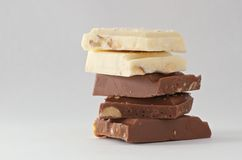 Γραπτοί φραγμοί σοκολάτας στοκ φωτογραφία με δικαίωμα ελεύθερης χρήσης