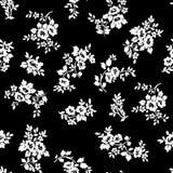 Γραπτός αυξήθηκε άνευ ραφής σχέδιο λουλουδιών Στοκ Εικόνες
