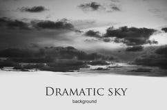 Γραπτός δραματικός νυχτερινός ουρανός Στοκ εικόνα με δικαίωμα ελεύθερης χρήσης