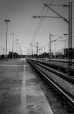 Γραπτός σιδηρόδρομος στον προσανατολισμό πορτρέτου Στοκ Εικόνα