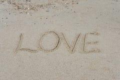 Γραπτός στην άμμο θάλασσας Στοκ εικόνα με δικαίωμα ελεύθερης χρήσης