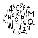 Γραπτός χέρι τύπος χαρακτήρων Σύγχρονο ύφος εγγραφής χεριών Πλήρης έκδοση Στοκ φωτογραφία με δικαίωμα ελεύθερης χρήσης