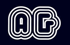 γραπτός alphabet άργυρος συνδυασμού επιστολών μια επιχείρηση λογότυπων γ διανυσματική απεικόνιση