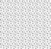 Γραπτό άνευ ραφής σχέδιο στην κατσαρόλα ύφους doodle, φλυτζάνι και Στοκ Φωτογραφίες