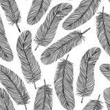 Γραπτό άνευ ραφής υπόβαθρο φτερών. Στοκ Φωτογραφία