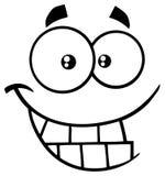 Γραπτό αστείο πρόσωπο κινούμενων σχεδίων χαμόγελου με την έκφραση Smiley απεικόνιση αποθεμάτων