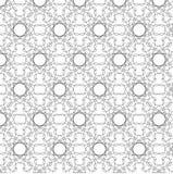 Γραπτό αφηρημένο διανυσματικό σχέδιο λουλουδιών Στοκ Εικόνα
