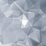 Γραπτό αφηρημένο διανυσματικό υπόβαθρο τριγώνων Στοκ Εικόνες
