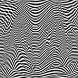 Γραπτό αφηρημένο ριγωτό υπόβαθρο τέχνη οπτική επίσης corel σύρετε το διάνυσμα απεικόνισης Στοκ φωτογραφία με δικαίωμα ελεύθερης χρήσης
