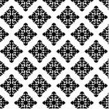 Γραπτό αφηρημένο σχέδιο της floral διακόσμησης Στοκ Εικόνα