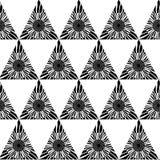 Γραπτό γεωμετρικό άνευ ραφής σχέδιο με το τρίγωνο, αφηρημένο υπόβαθρο, διάνυσμα Στοκ Εικόνες