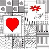 Γραπτό γεωμετρικό σχέδιο Στοκ φωτογραφίες με δικαίωμα ελεύθερης χρήσης