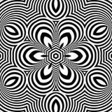 Γραπτό γεωμετρικό σχέδιο abstract background striped Στοκ Εικόνες