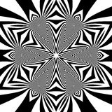 Γραπτό γεωμετρικό σχέδιο abstract background striped Στοκ Φωτογραφίες