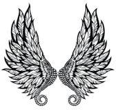 Γραπτό ζευγάρι των φτερών αγγέλου Δερματοστιξία stdesign ελεύθερη απεικόνιση δικαιώματος