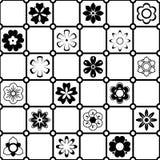 Γραπτό διανυσματικό σχέδιο λουλουδιών Στοκ Φωτογραφίες
