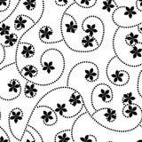 Γραπτό διανυσματικό σχέδιο λουλουδιών Στοκ Φωτογραφία