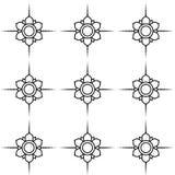 Γραπτό διανυσματικό σχέδιο λουλουδιών Στοκ Εικόνα
