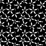 Γραπτό διανυσματικό σχέδιο λουλουδιών Στοκ Εικόνες
