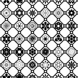 Γραπτό διανυσματικό σχέδιο λουλουδιών Στοκ φωτογραφία με δικαίωμα ελεύθερης χρήσης