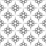Γραπτό διανυσματικό σχέδιο λουλουδιών Στοκ φωτογραφίες με δικαίωμα ελεύθερης χρήσης