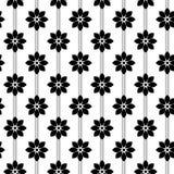 Γραπτό διανυσματικό σχέδιο λουλουδιών Στοκ εικόνες με δικαίωμα ελεύθερης χρήσης