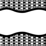 Γραπτό κατασκευασμένο ύφασμα της Fleur de Lis Pattern με την κορδέλλα Στοκ Εικόνα
