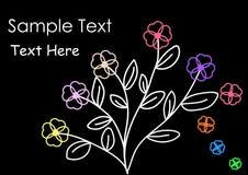 Γραπτό λουλούδι - απεικόνιση Στοκ φωτογραφίες με δικαίωμα ελεύθερης χρήσης