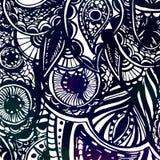 Γραπτό περίκομψο χέρι που σύρεται doodles με Στοκ Φωτογραφία