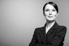 Γραπτό πορτρέτο μιας όμορφης γυναίκας Στοκ εικόνες με δικαίωμα ελεύθερης χρήσης