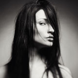 Πορτρέτο τέχνης μιας όμορφης νέας κυρίας Στοκ εικόνες με δικαίωμα ελεύθερης χρήσης