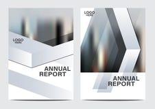 Γραπτό πρότυπο σχεδίου σχεδιαγράμματος φυλλάδιων Σύγχρονο υπόβαθρο παρουσίασης κάλυψης φυλλάδιων ιπτάμενων ετήσια εκθέσεων απεικόνιση αποθεμάτων