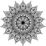 Γραπτό στρογγυλό mandala σχεδίων δαντελλών κύκλων επίσης corel σύρετε το διάνυσμα απεικόνισης Στοκ Φωτογραφίες