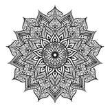 Γραπτό στρογγυλό mandala σχεδίων δαντελλών κύκλων επίσης corel σύρετε το διάνυσμα απεικόνισης Στοκ φωτογραφίες με δικαίωμα ελεύθερης χρήσης