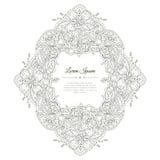 Γραπτό συρμένο χέρι floral πλαίσιο doodle Στοκ Φωτογραφία