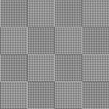 Γραπτό σχέδιο καρό houndstooth άνευ ραφής Στοκ Εικόνα