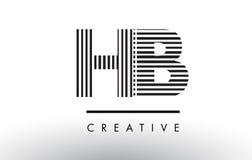 Γραπτό σχέδιο λογότυπων επιστολών γραμμών HB Χ Β Στοκ φωτογραφία με δικαίωμα ελεύθερης χρήσης