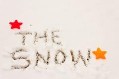 Γραπτό το χιόνι Στοκ φωτογραφία με δικαίωμα ελεύθερης χρήσης
