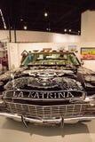 Γραπτό το 1968 Chevrolet Impala lowrider αποκαλούμενη EL Muertor Στοκ εικόνα με δικαίωμα ελεύθερης χρήσης