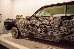 Γραπτό το 1968 Chevrolet Impala lowrider αποκαλούμενη EL Muertor Στοκ φωτογραφία με δικαίωμα ελεύθερης χρήσης