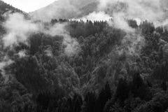 Γραπτό υψηλό τοπίο βουνών αντίθεσης Στοκ Εικόνες