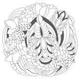Γραπτό floral σχέδιο αποθεμάτων doodle προσανατολίστε Abst Στοκ φωτογραφία με δικαίωμα ελεύθερης χρήσης
