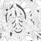Γραπτό floral σχέδιο doodle αποθεμάτων άνευ ραφής Ori Στοκ εικόνα με δικαίωμα ελεύθερης χρήσης