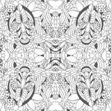 Γραπτό floral σχέδιο doodle αποθεμάτων άνευ ραφής Ori Στοκ Εικόνες