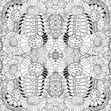 Γραπτό floral σχέδιο doodle αποθεμάτων άνευ ραφής Ori Στοκ φωτογραφία με δικαίωμα ελεύθερης χρήσης